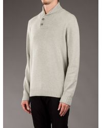 Brunello Cucinelli Green Shawl-collar Sweater for men