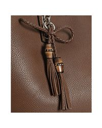 Gucci - Brown Bella Braided Handle Tote - Lyst