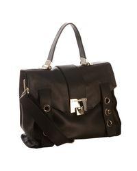 Jimmy Choo | Black Leather Pauline Shoulder Bag | Lyst