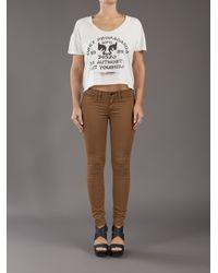 Rag & Bone Brown Twill Legging Jeans