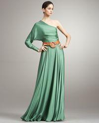Ralph Lauren Collection | Purple Larisa One-sleeve Silk Dress | Lyst