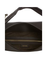 Tom Ford - Brown Leather Zipper Strap Hobo - Lyst