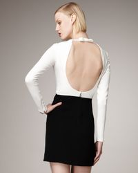 Valentino | Black Long-sleeve Open-back Dress | Lyst