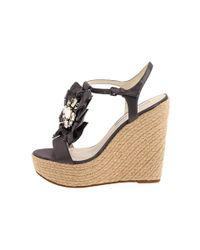 Vera Wang Lavender | Black Paige Wedge Sandals | Lyst