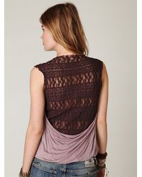 Free People | Black Harlow Lace Back Top | Lyst