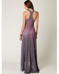 Free People - Gray Sundial Maxi Dress - Lyst