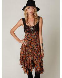Free People | Orange Fp One Fall Carnival Dress | Lyst