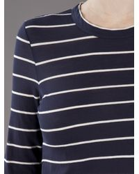 A.L.C. | Blue Travis Stripe T-shirt | Lyst