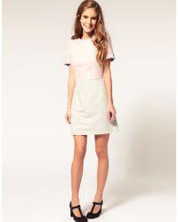ASOS Collection - Pink Asos Petite Tweed Dress in Pastel - Lyst
