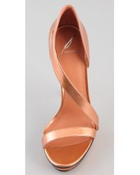 B Brian Atwood | Metallic Consort High Heel Sandals | Lyst