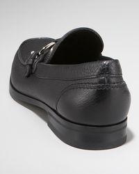 Ferragamo - Black Bravo Buckle Loafer for Men - Lyst