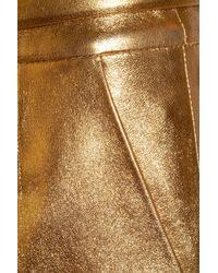 Gucci   Gold Metallic Leather Mini Skirt   Lyst