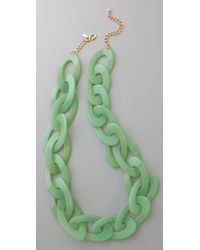 Kenneth Jay Lane | Green Jade Link Necklace | Lyst