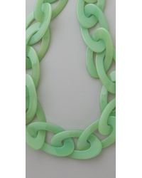 Kenneth Jay Lane - Green Jade Link Necklace - Lyst