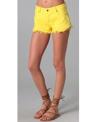 Ksubi | Yellow Alberceque Cut Off Shorts | Lyst