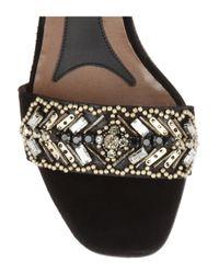 Marni   Black Embellished Suede Sandals   Lyst