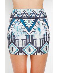 Nasty Gal - Blue Aztec Pyramid Skirt - Lyst