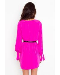 Nasty Gal - Purple Tied Wrap Dress - Fuchsia - Lyst