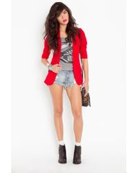 Nasty Gal | Red Deep Plunge Blazer | Lyst