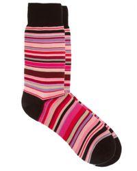Paul Smith - Pink Multi Stripe Socks for Men - Lyst