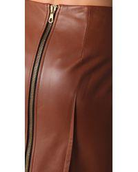 Rag & Bone | Brown Chestnut Leather Skirt | Lyst