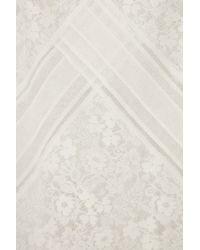 Antonio Berardi White Lace and Chiffon Dress