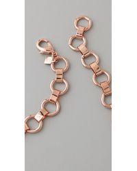 DANNIJO - Pink Keira Bib Necklace - Lyst