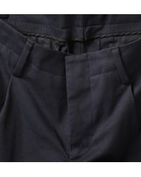 Gucci | Blue Pleated Slimfit Cottonblend Trousers for Men | Lyst
