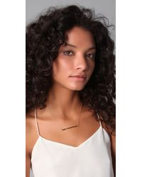 Jennifer Zeuner | Gold Bar-pendant Necklace | Lyst