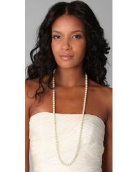 Kenneth Jay Lane - White Pearl Necklace - Lyst