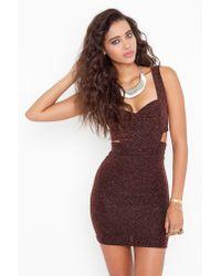 Nasty Gal - Brown Hot Metal Cutout Dress - Lyst