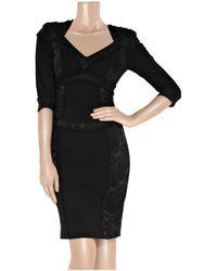 Temperley London - Black Roxanna Lace-paneled Dress - Lyst