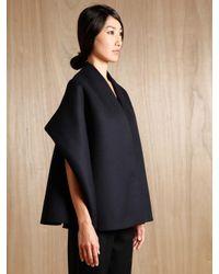 Tze Goh | Blue Cashmere Cape Jacket | Lyst