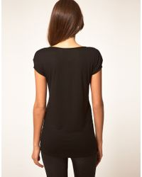 ASOS Collection | Black Asos T-shirt with Geo Embellishment | Lyst