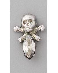 Bing Bang - Metallic Mini Memento Mori Skull Studs - Lyst