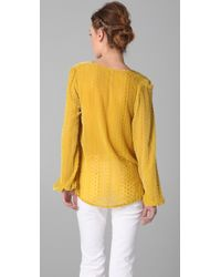 Blu Moon | Yellow Bell Sleeve Top | Lyst