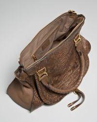 Chloé - Brown Marcie Python Bag - Lyst