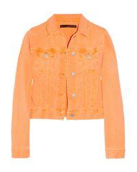 Christopher Kane | Orange Neon Stretch-Denim Jacket | Lyst