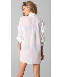 Kiki de Montparnasse - White Cotton Boyfriend-fit Shirt - Lyst