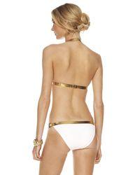Michael Kors - White Leather-contrast Bikini - Lyst