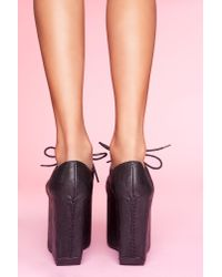 Nasty Gal - Black Club Kid Platform - Lyst
