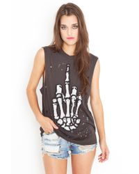 Nasty Gal - Black Hail No Muscle Tee - Lyst