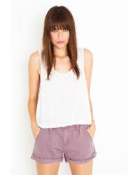 Nasty Gal | Purple Off The Cuff Shorts | Lyst