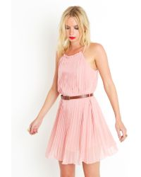 Nasty Gal | Pink Sweet Pleats Dress | Lyst