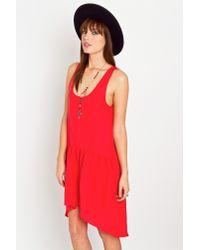 Nasty Gal - Red Alicia Silk Dress - Lyst