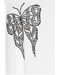 Thomas Wylde | White Seeing Double Embellished Fine-Jersey Tunic | Lyst
