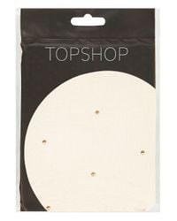 TOPSHOP | Natural Nude Gold Stud Tights | Lyst