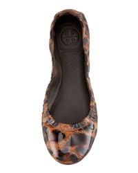Tory Burch | Multicolor Eddie Leopard-print Ballerina Flat | Lyst