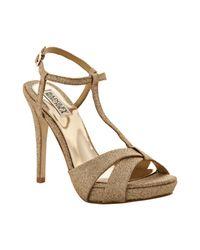Badgley Mischka | Pink Rose Gold Glitter Indigo Iii Platform Sandals | Lyst