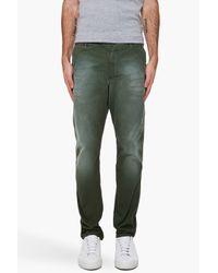 DIESEL - Green Chi-blado-b Trousers for Men - Lyst